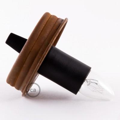Kit iluminação frasco de compota, Ferrugem