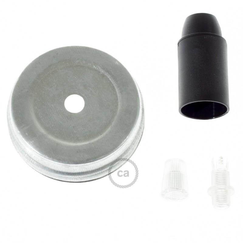 Kit iluminação frasco de compota, Galvanizado