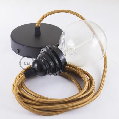 Candeeiro suspenso para Abajur, lâmpada suspensa com cabo têxtil de Seda Artificial Whiskey RM22