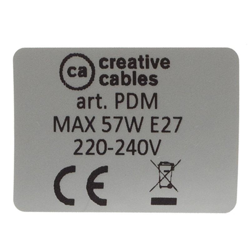 Candeeiro suspenso único, lâmpada suspensa com cabo têxtil de Seda Artificial Esverdeado TC63