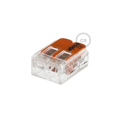 Conectores 2 pólos transparentes Universal
