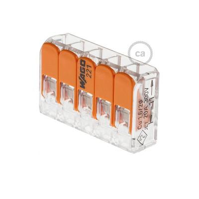 Conectores 5 pólos transparentes Universal