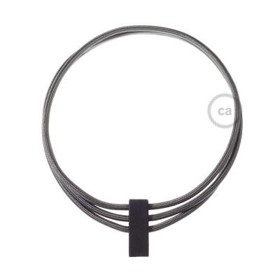 Colar Círculos colorido: Cinza Escuro RM26.