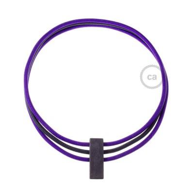 Colar Círculos colorido: Violeta RM14 e Preto RM04.