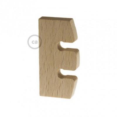 Regulador de Altura para Suspensão de Lâmpada em madeira natural não tratada. Fabricado em Itália.