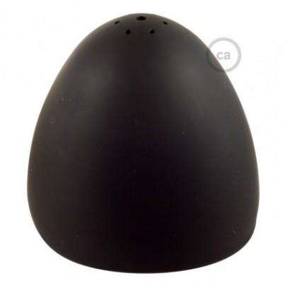 Abajur de silicone de cor preta fornecido com difusor e braçadeira. Diâmetro 25cm.
