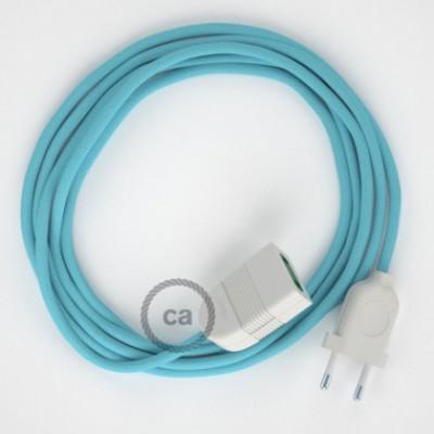 Cabo extensão em Seda Artificial Azul Bebé RM17 2P 10A. Fabricado em Itália.