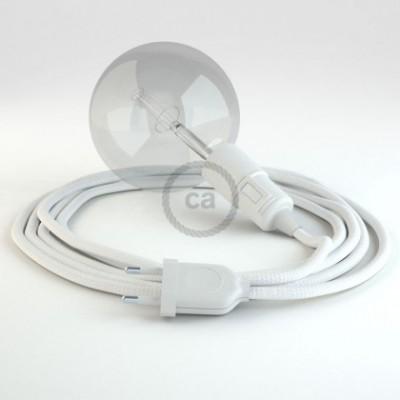 Crie a sua Snake Seda Artificial Branco RM01 e traga a sua luz para onde quiser.