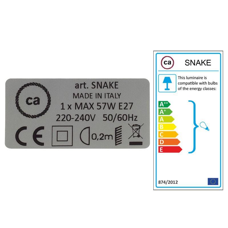 Crie a sua Snake Seda Artificial Turquesa RM11 e traga a sua luz para onde quiser.