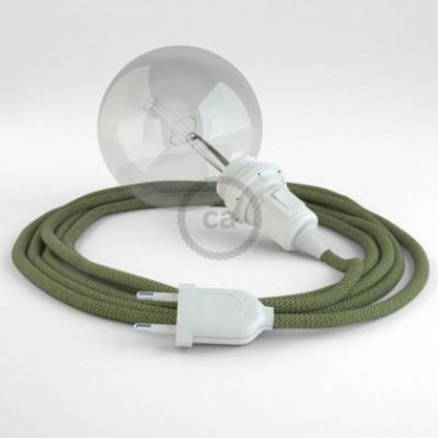 Crie a sua Snake ZigZag Verde Tomilho RD72 para abajur e traga a sua luz para onde quiser.