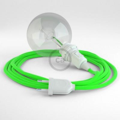 Crie a sua Snake Fluo Verde RF06 para abajur e traga a sua luz para onde quiser.