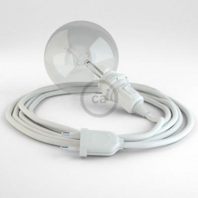 Crie a sua Snake Seda Artificial Branco RM01 para abajur e traga a sua luz para onde quiser.