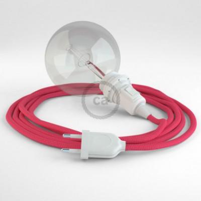 Crie a sua Snake Seda Artificial Fuchsia RM08 para abajur e traga a sua luz para onde quiser.