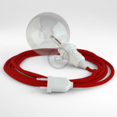 Crie a sua Snake Seda Artificial Vermelho RM09 para abajur e traga a sua luz para onde quiser.