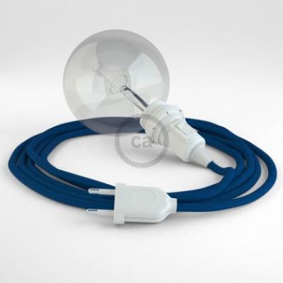 Crie a sua Snake Seda Artificial Azul RM12 para abajur e traga a sua luz para onde quiser.