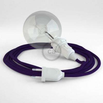 Crie a sua Snake Seda Artificial Violeta RM14 para abajur e traga a sua luz para onde quiser.