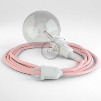 Crie a sua Snake Seda Artificial Rosa Bebé RM16 para abajur e traga a sua luz para onde quiser.