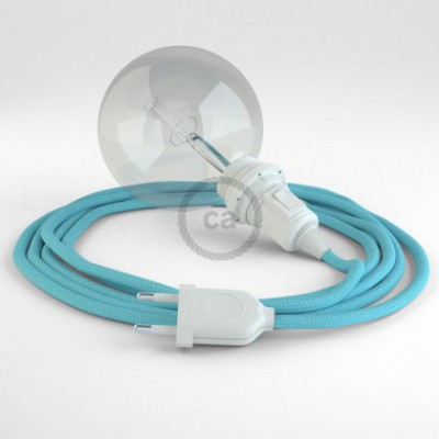 Crie a sua Snake Seda Artificial Azul Bebé RM17 para abajur e traga a sua luz para onde quiser.