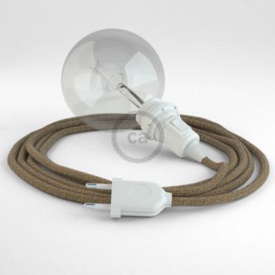 Crie a sua Snake Linho Natural Castanho Brilhante RS82 para abajur e traga a sua luz para onde quiser.