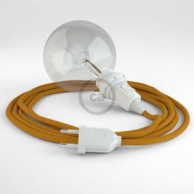Crie a sua Snake Seda Artificial Mostarda RM25 para abajur e traga a sua luz para onde quiser.