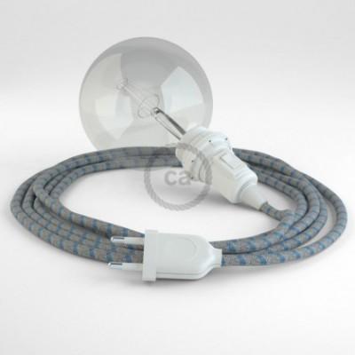 Crie a sua Snake às riscas Azul Steward RD55 para abajur e traga a sua luz para onde quiser.