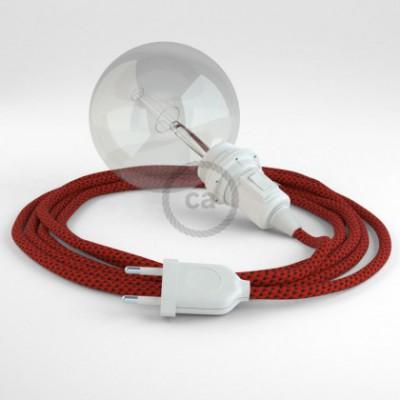 Crie a sua Snake Seda Artificial 3D Red Devil RT94 para abajur e traga a sua luz para onde quiser.