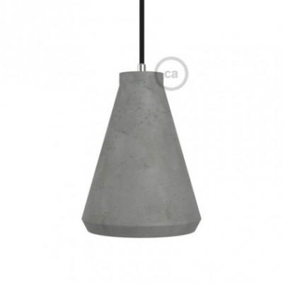 Abajur de cimento Imbuto com retentor de cabo e suporte de lâmpada E27