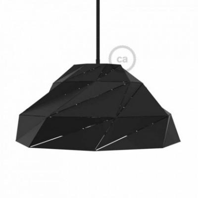 Abajur Nuvola em metal preto opaco com casquilho E27