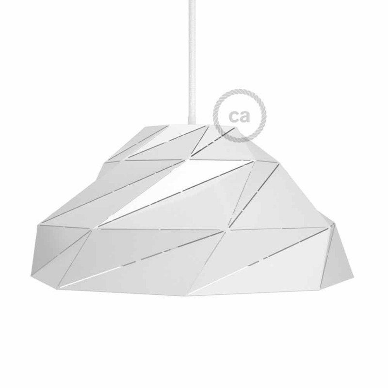 Abajur Nuvola em metal branco brilhante com casquilho E27
