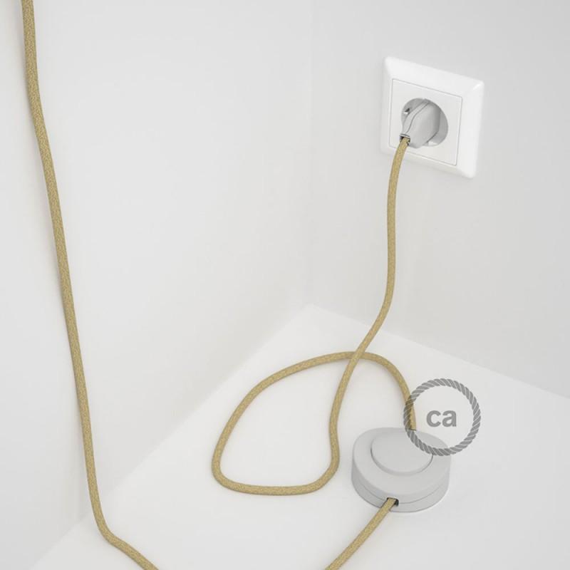 Cabo para candeeiro de chão, RN06 Juta 3 m. Escolha a cor da ficha e do interruptor.