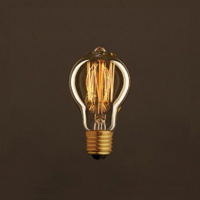 Lâmpada Vintage Dourada Drop A60 Filamento de Carbono tipo Gaiola 25W E27 Dimável 2000K