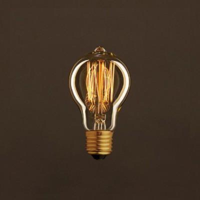 Lâmpada Vintage Dourada Drop A60 Filamento de Carbono tipo Gaiola 30W E27 Dimável 2000K