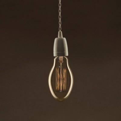 Lâmpada Vintage Dourada Vela E75 Filamento de Carbono tipo Gaiola 25W E27 Dimável 2000K
