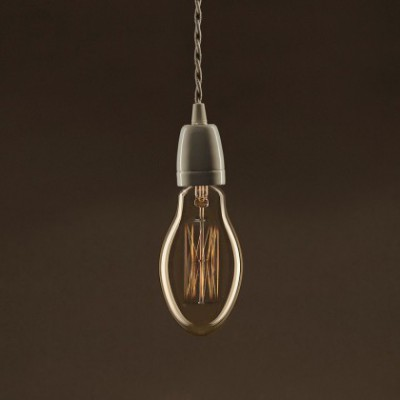 Lâmpada Vintage Dourada Vela E75 Filamento de Carbono tipo Gaiola 30W E27 Dimável 2000K