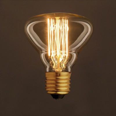 Lâmpada Vintage Dourada BR95 Filamento de Carbono tipo Gaiola 25W E27 Dimável 2000K