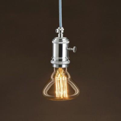 Lâmpada Vintage Dourada BR95 Filamento de Carbono tipo Gaiola 30W E27 Dimável 2000K