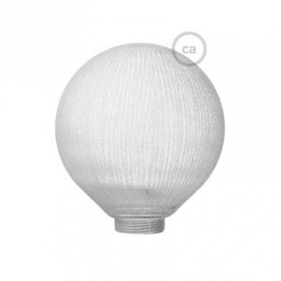 Vidro decorativo para lâmpada modular G125 Branco com linhas Verticais