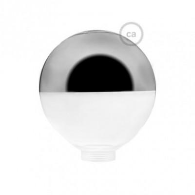 Vidro decorativo para lâmpada modular G125 Semiesfera Prateada