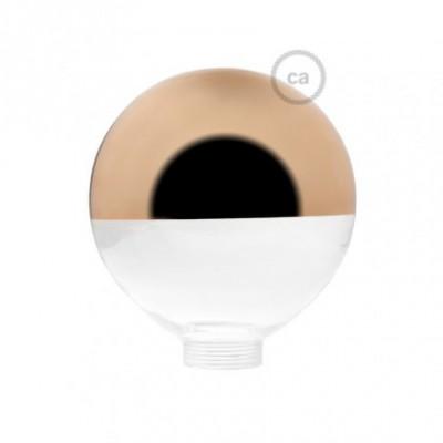 Vidro decorativo para lâmpada modular G125 Semiesfera Cobre