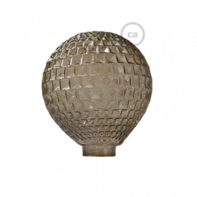 Vidro decorativo para lâmpada modular G125 Diamante Fumado