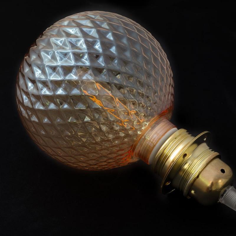 Lâmpada Decorativa Modular LED G125 com vidro Joia Fumado 5W E27 Dimável 2700K