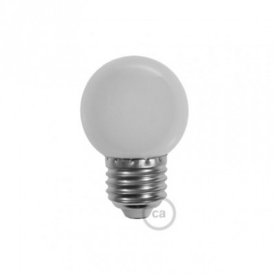 Lâmpada decorativa G45 golfball LED 1W E27 2700K - Opalina