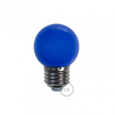 Lâmpada decorativa G45 golfball LED 1W E27 2700K - Azul