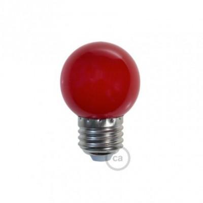 Lâmpada decorativa G45 golfball LED 1W E27 2700K - Vermelha