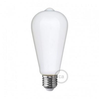 Lâmpada Opalina LED - Edison ST64 - 6W E27 Dimável 2700K