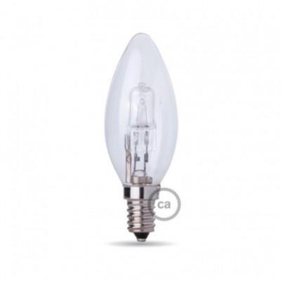 Lâmpada de halogéneo em formato de vela, casquilho E14 28W Dimável