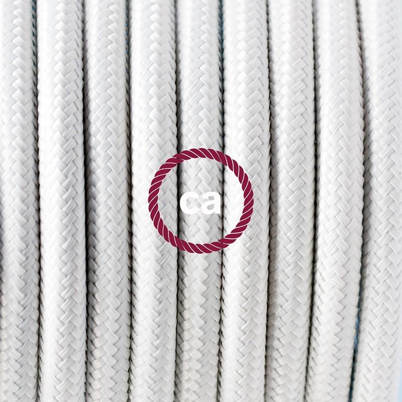 SnakeBis fixação com casquilho e cabo em tecido - Seda Artificial Branco RM01