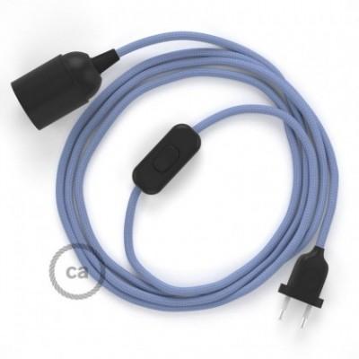 SnakeBis fixação com casquilho e cabo em tecido - Seda Artificial Lilás RM07
