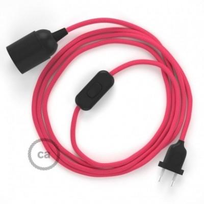 SnakeBis fixação com casquilho e cabo em tecido - Seda Artificial Fúcsia RM08