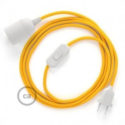 SnakeBis fixação com casquilho e cabo em tecido - Seda Artificial Amarelo RM10